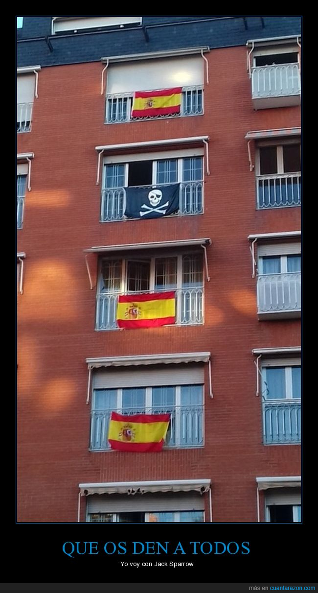 balcones,banderas,españa,pirata