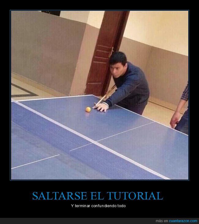 billar,pingpong,tutorial