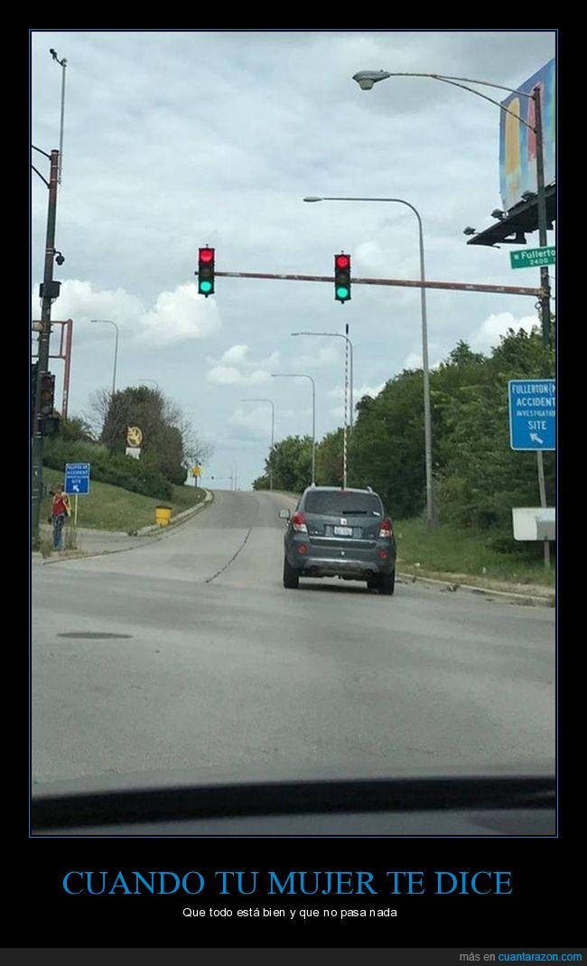 confusión,rojo,semáforo,verde