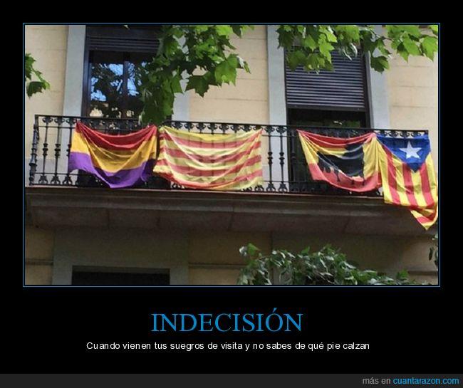 balcón,banderas,catalunya