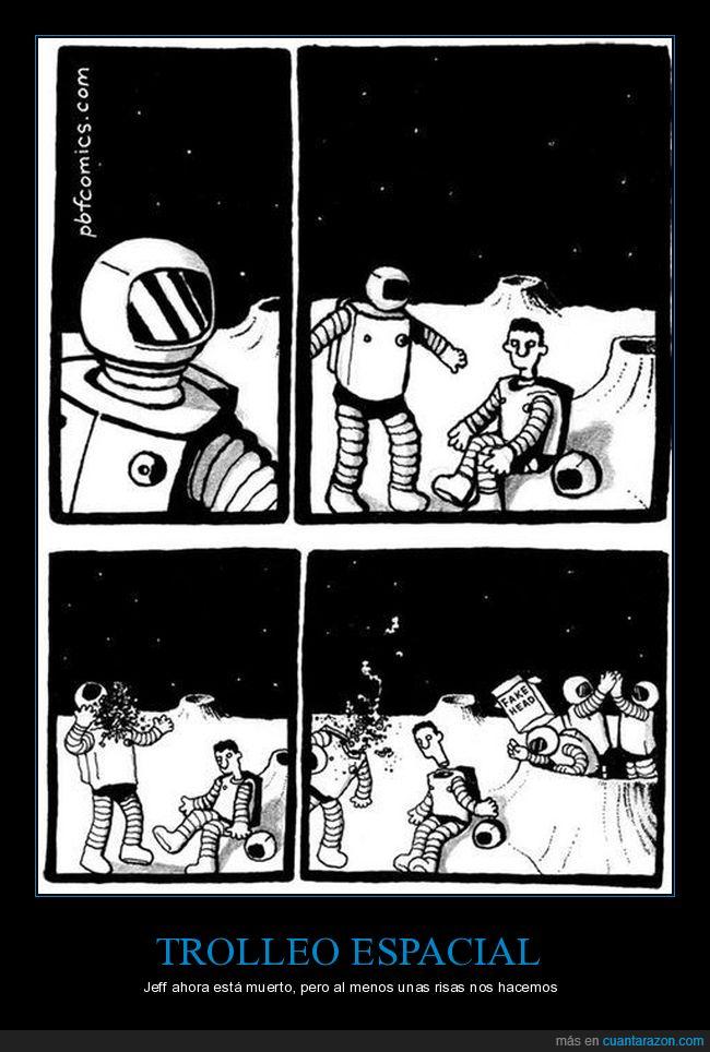 astronauta,broma,cabeza,casco,traje,trolleo