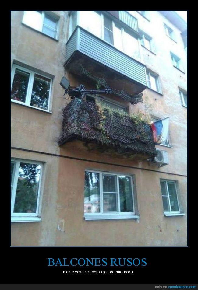 balcón,minigun,Rusia,rusos