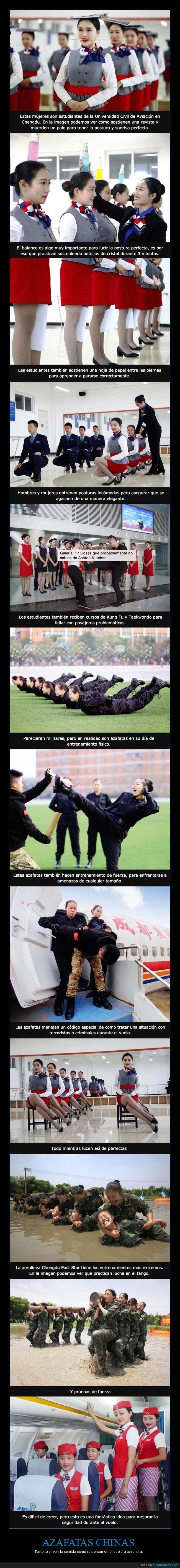 azafatas,chinas,espartanas,militar