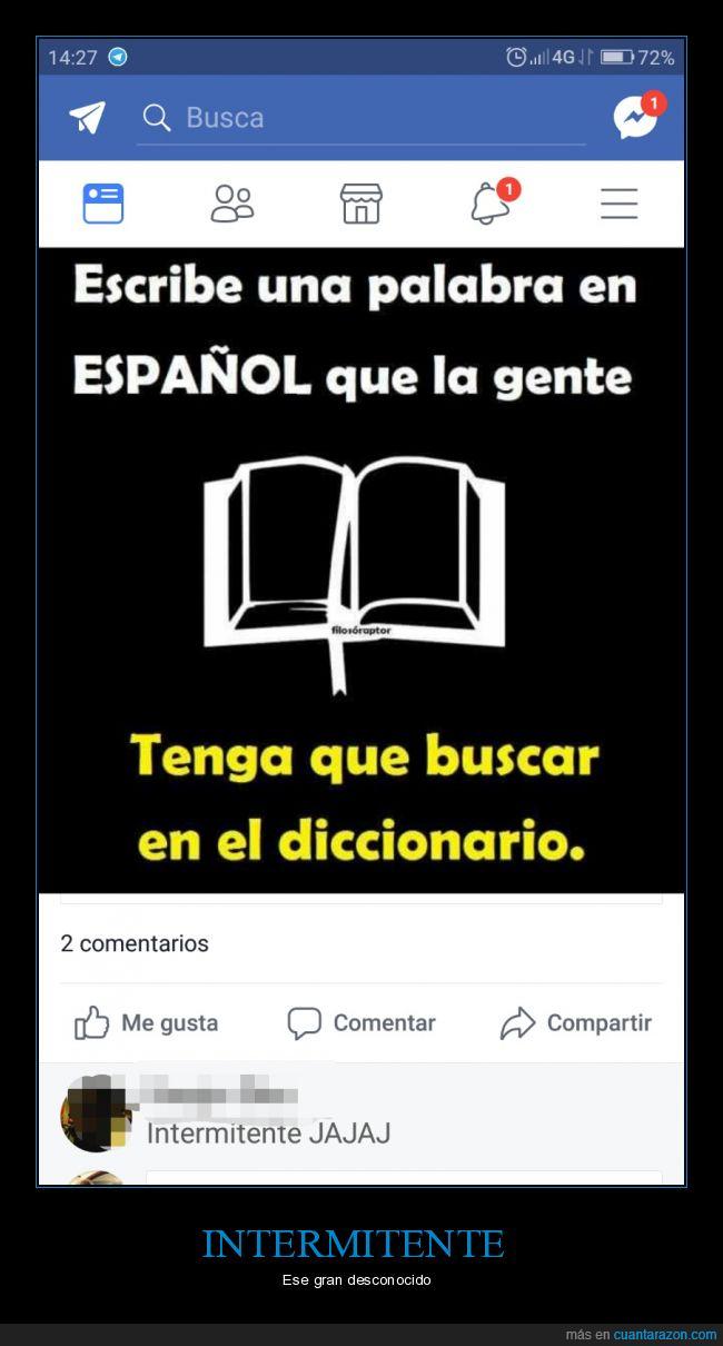 diccionario,español,intermitente
