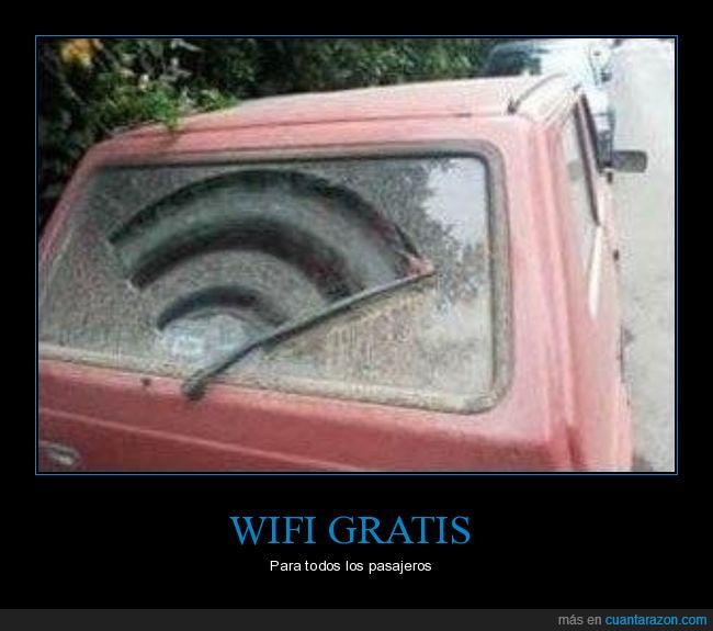 coche,parabrisas,símbolo,wifi