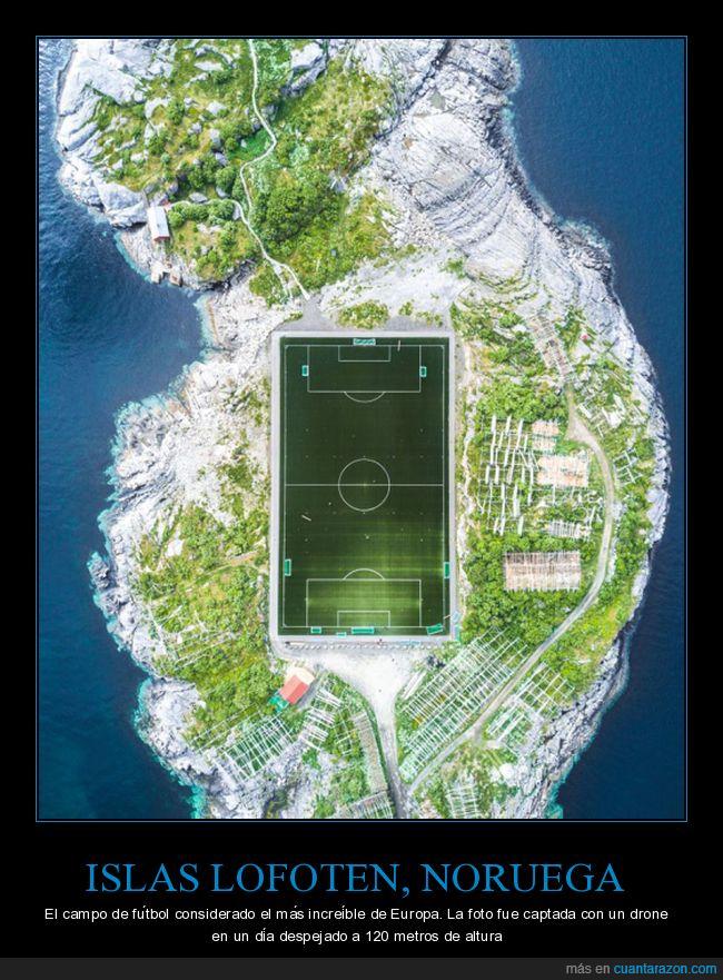 campo,fútbol,lofoten,noruega