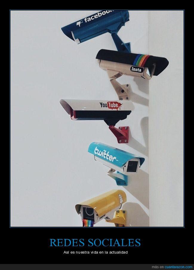 cámaras,redes sociales