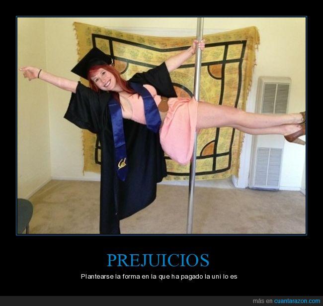 chica,graduación,table,tubo
