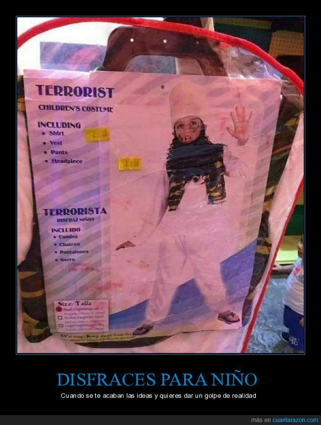 disfraz,niño,terrorista