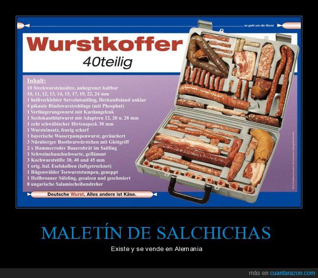 Alemania,Maletín,salchichas,tienes hambre?