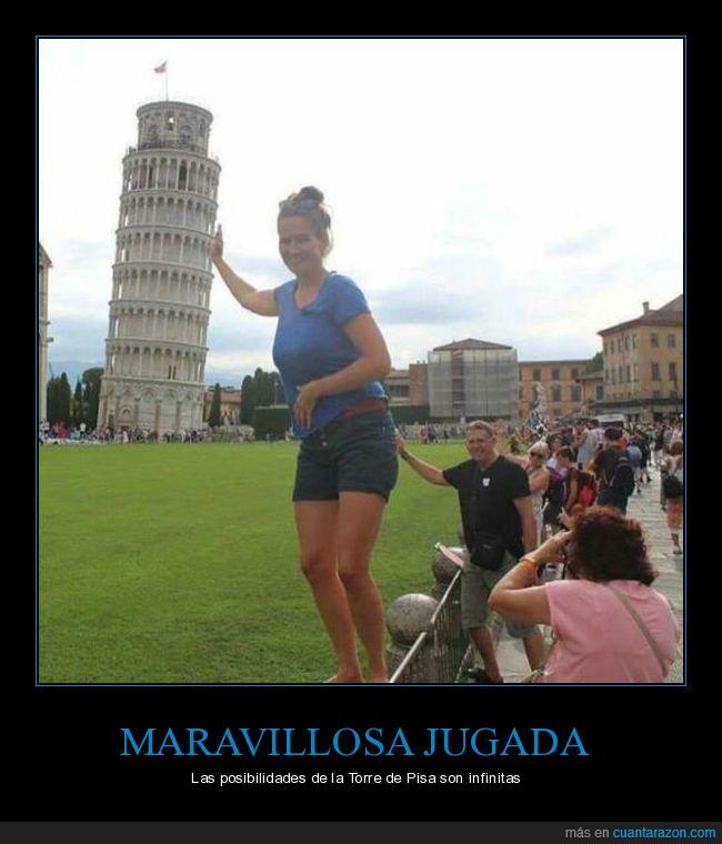 fotografía,posar,torre de pisa