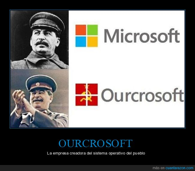 comunista,microsoft,ourcrosoft