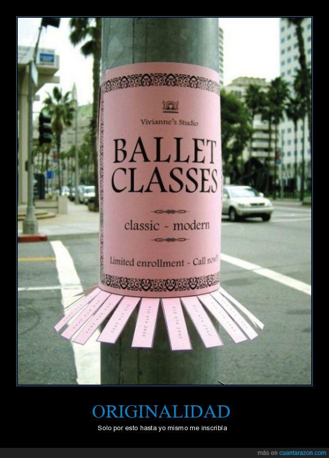 anuncio,ballet,papeles,vestido