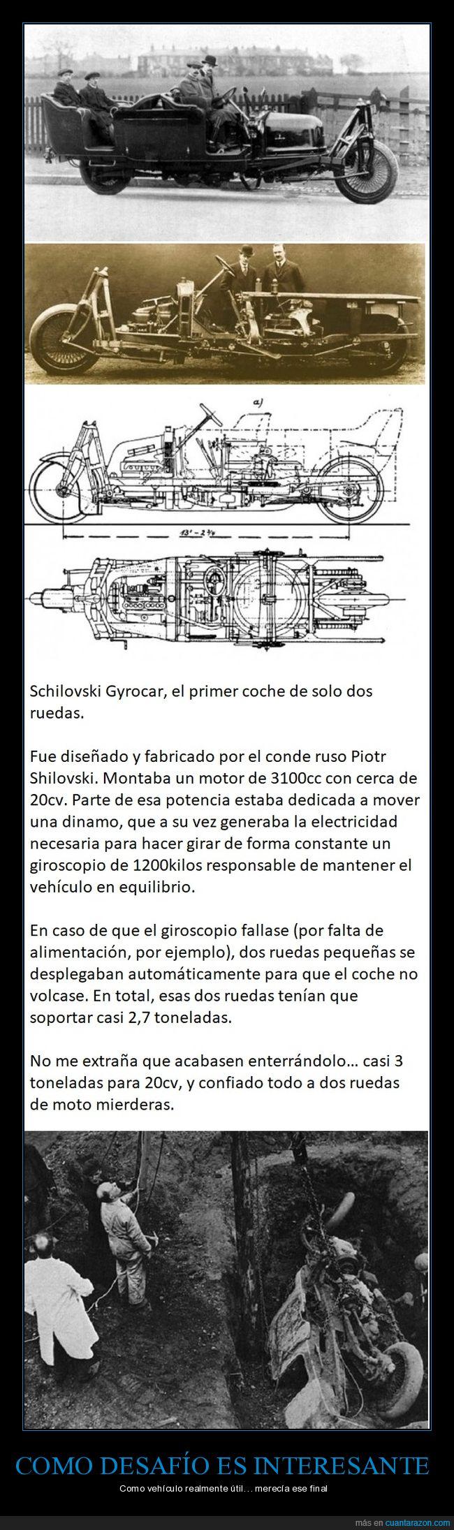 dos ruedas,Gyrocar,ingeniería,Rusos