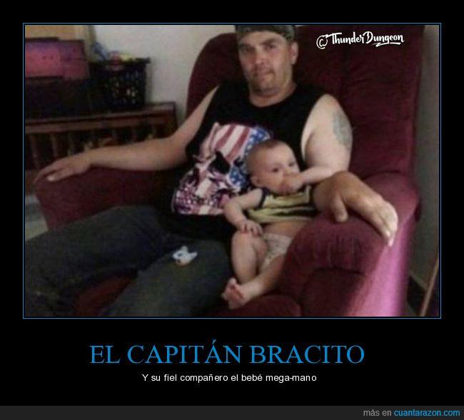 bebé,brazo,ilusión óptica,padre
