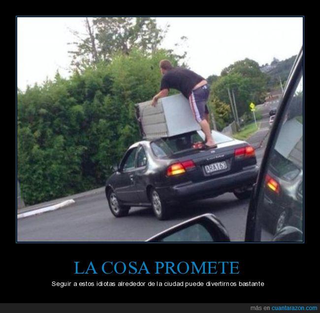 cargar,coche,equipaje,tontos