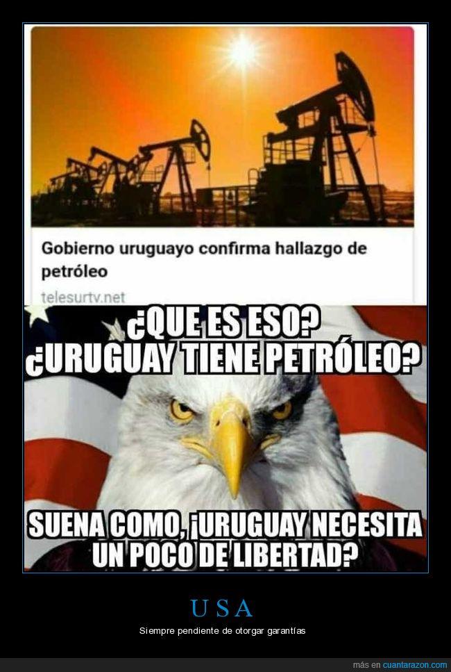 Estados Unidos,petròleo,Uruguay,USA
