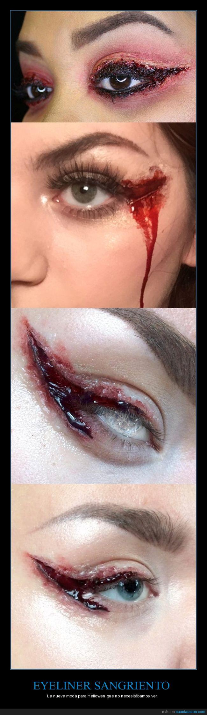 eyeliner,halloween,sangre