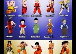 Enlace a Los cambios que tuvieron algunos personajes de Dragon Ball durante todas las sagas