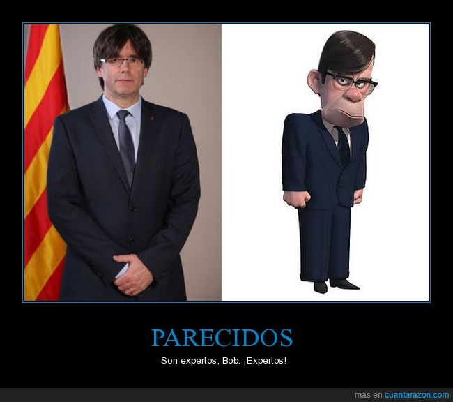 Cataluña,Disney,Gilbert,Increibles,Parecidos,Pixar,Puigdemont,Separados al Nacer