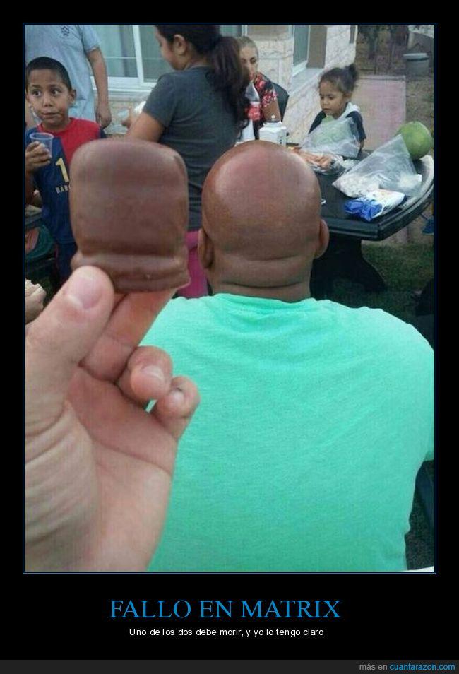 cabeza,calva,chocolate