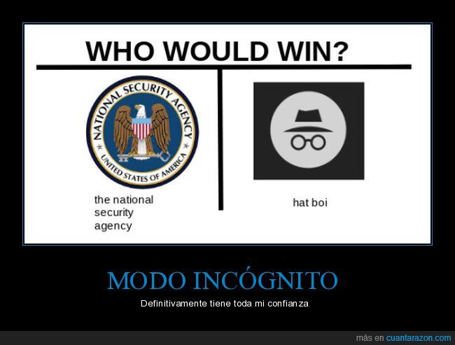 agencia seguridad nacional,incógnito,navegador