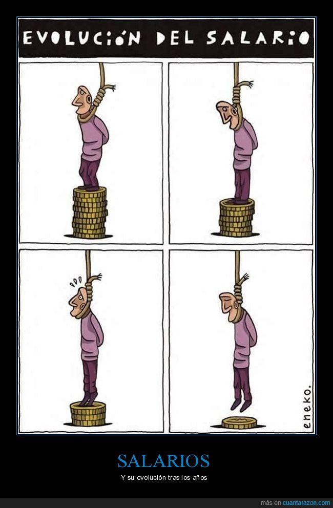 colgar,monedas,salario,suicidio