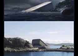 Enlace a UNDER, el primer restaurante europeo bajo el agua que parece una roca desde fuera pero cuando entras...