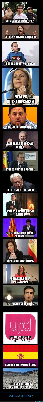 Cospedal,Echenique,España,GoT Juego de tronos,Junqueras,Puigdemont,Rajoy