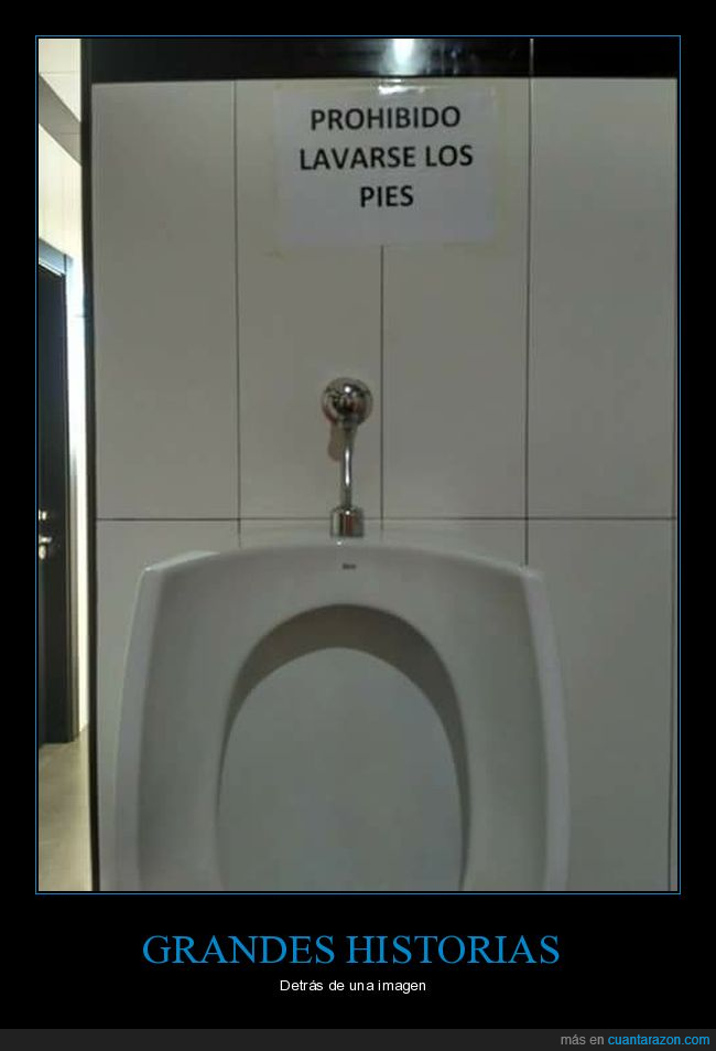 Prohibido lavar pies,WC