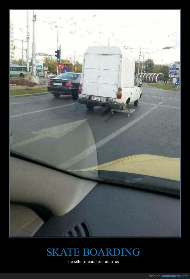 camión,llanta,patín