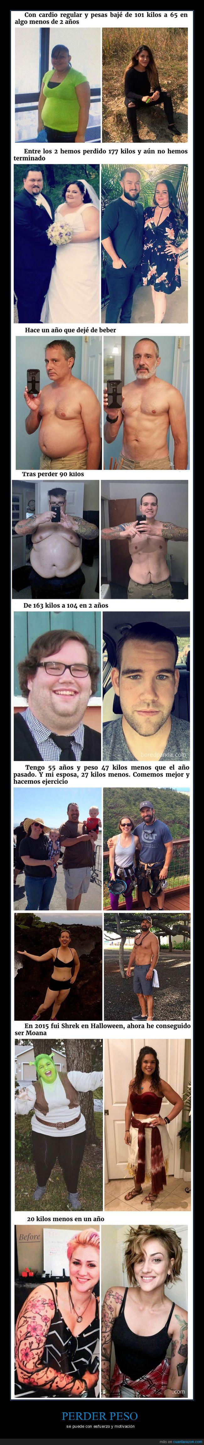 esfuerzo,motivación,perder peso
