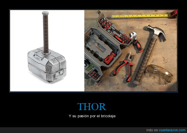 bricolaje,caja de herramientas,martillo,thor