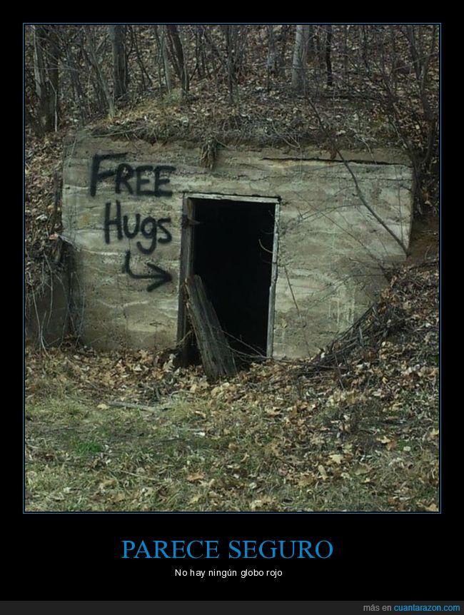 abrazos,globos,puerta oscura