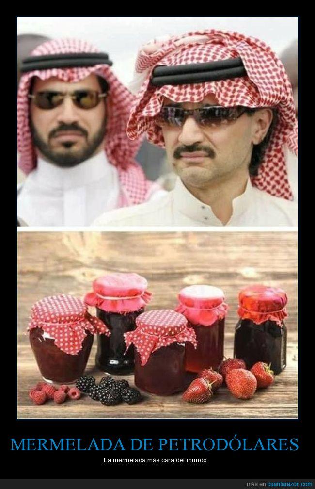 árabes,jeques,mermelada,tarros