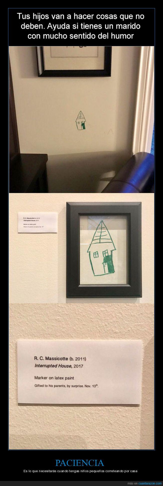 estropicio,niños,obra de arte,pared