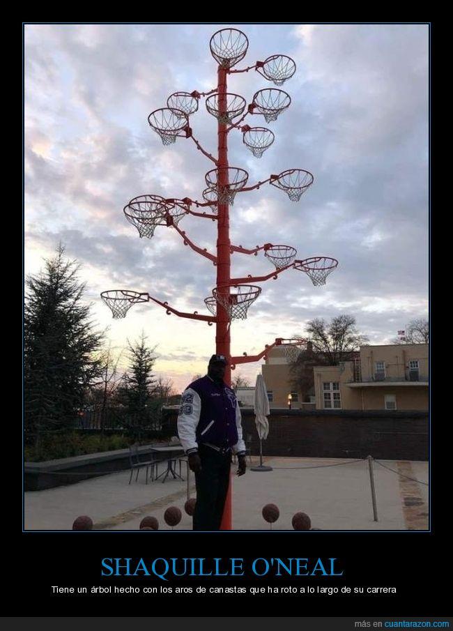 árbol,aros,navidad,Shaquille O'neal