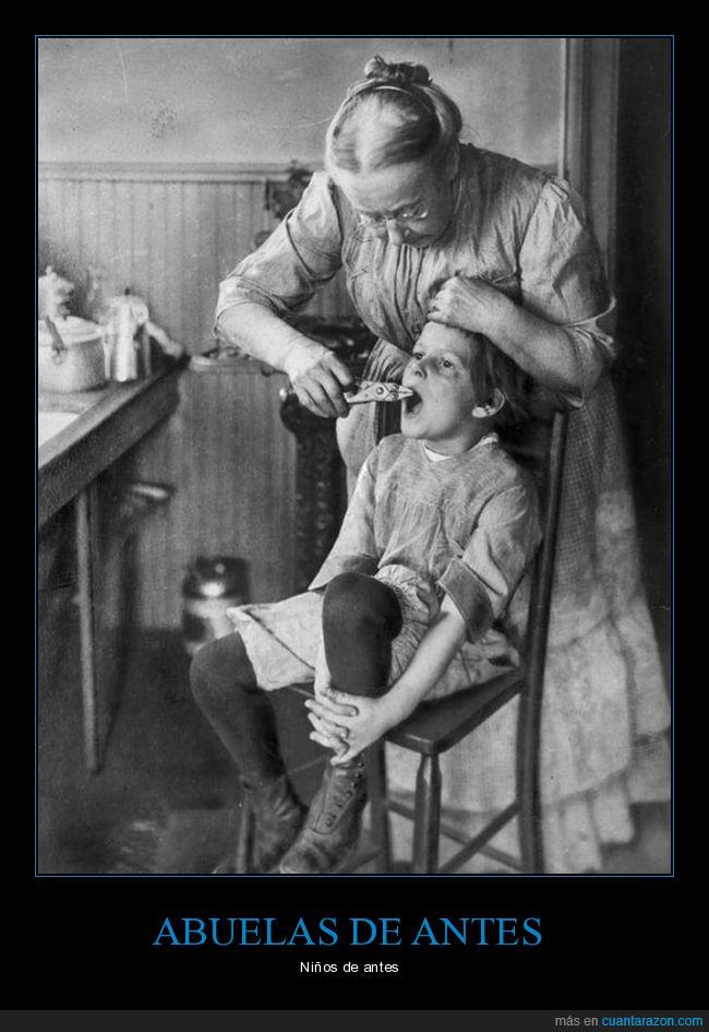 abuela,diente,niños,salvajada,valor