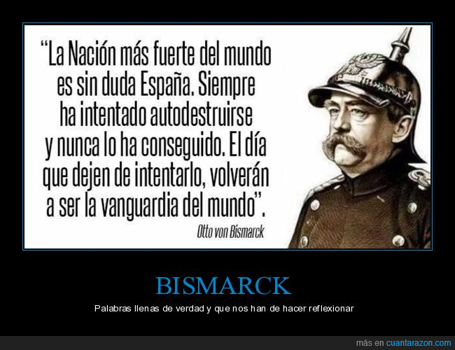 bismarck,españa,otto,situacion,verdad,von