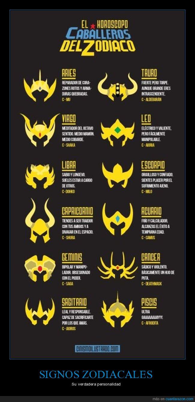 caballeros del zodiaco,horóscopos