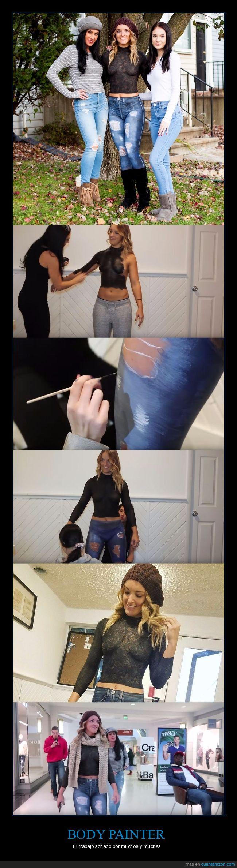 body painter,chica