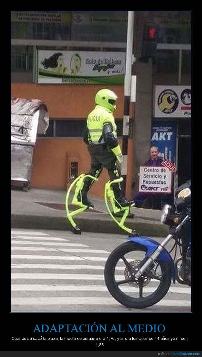 policía,zancos