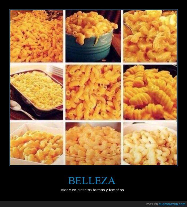 belleza,comida,pasta,tipos