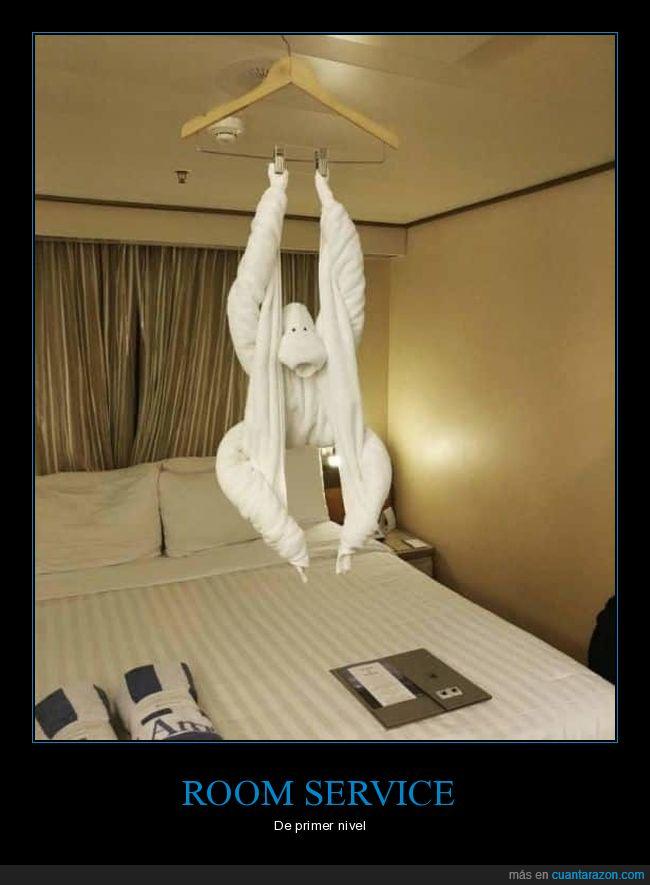 gorila,habitación,hotel,toalla