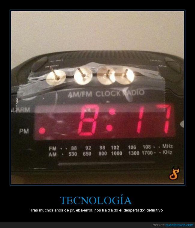 chinchetas,despertador,reloj,tachuelas