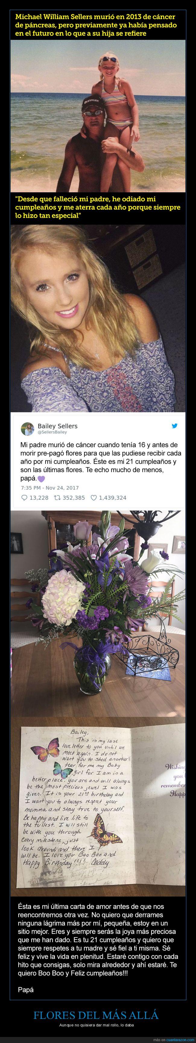 cumpleaños,dep,flores,hija,padre