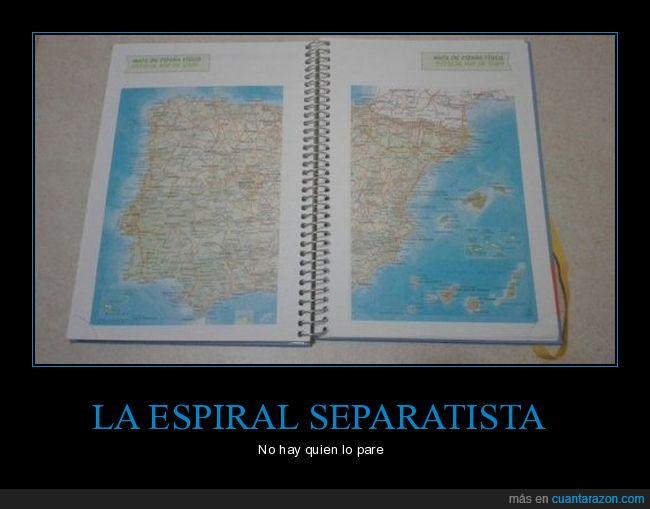 catalunya,españa,espiral,libreta,separatismo