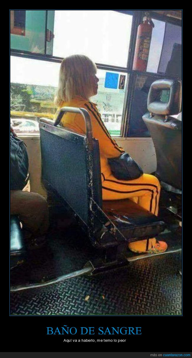 anciana,autobùs,kill bill
