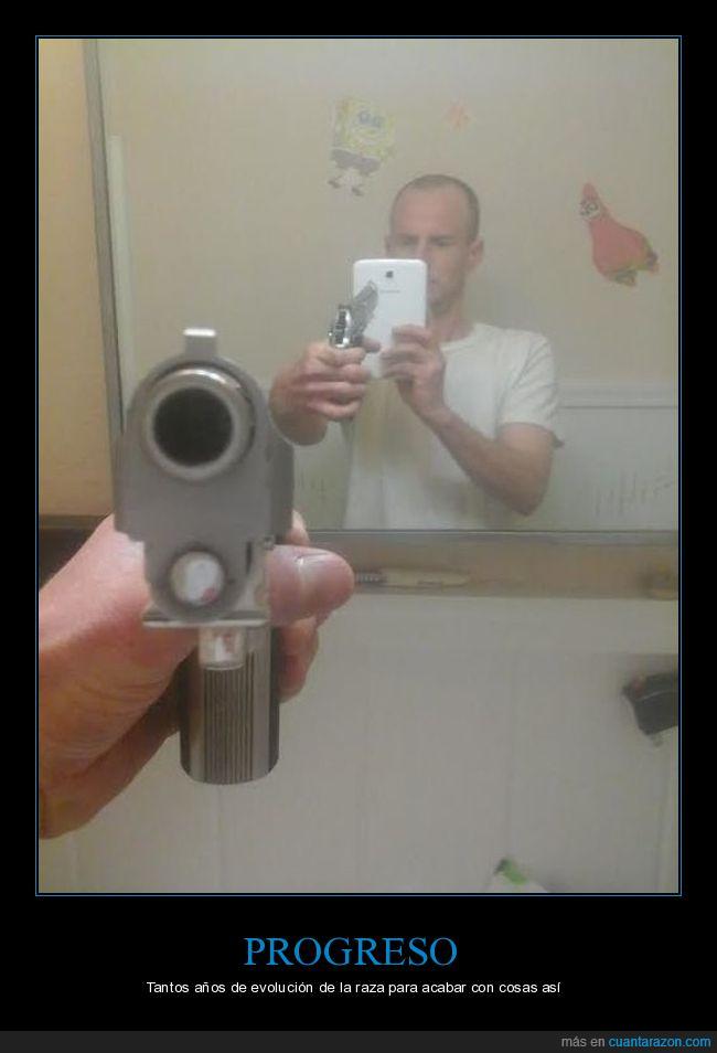 disparo,pistola,selfie,wtf