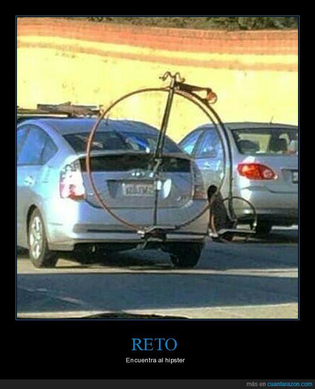 bicicleta,coche,hipster